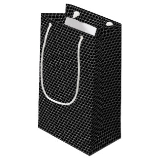 Metal grid pattern - background small gift bag