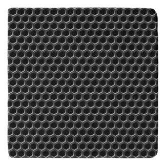 Metal grid pattern - background trivet