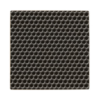 Metal grid pattern - background wood coaster