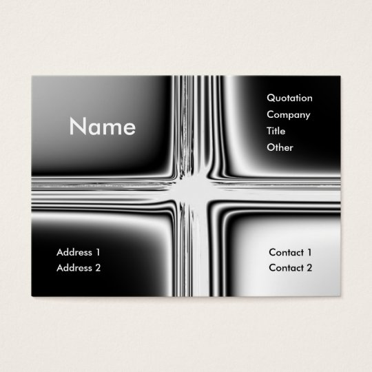 Metal Groovy Business Card