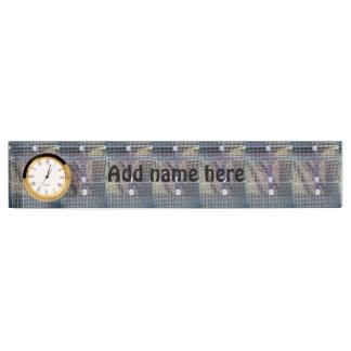 Metal ground nameplate