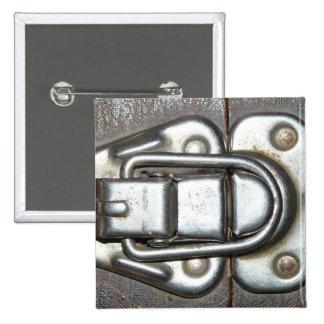 Metal Grunge Latch Pinback Buttons