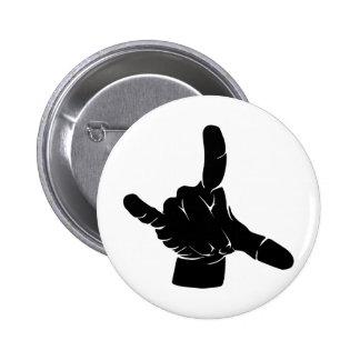 Metal hand at grindcore concert 6 cm round badge
