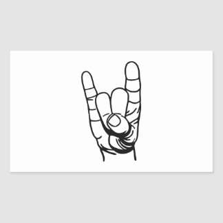 Metal hand - Devil of finger Rectangular Stickers