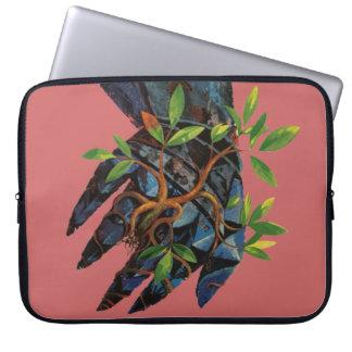 Metal Hand Growing Tree Laptop Case Lemuel Line