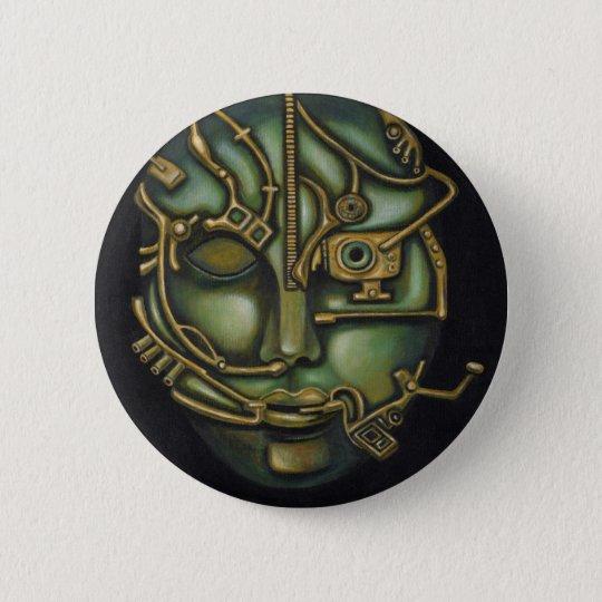 Metal Head 6 Cm Round Badge