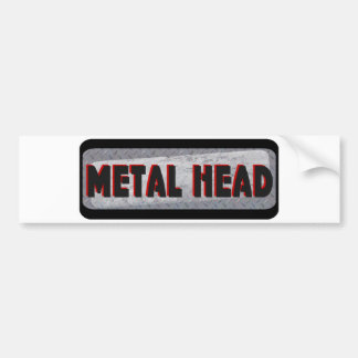 Metal Head Bumper Sticker
