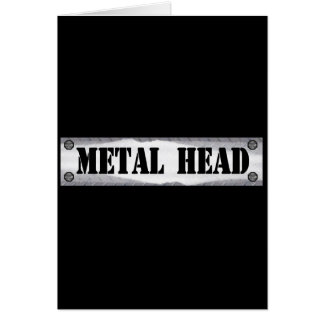 Metal Head Card