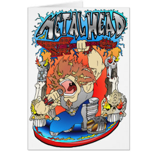 Metal Head Greeting Card