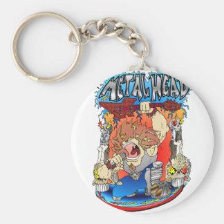 Metal Head Keychain