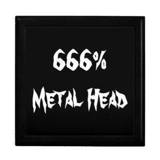 Metal Head Large Square Gift Box