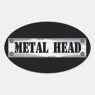 Metal Head Oval Sticker