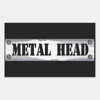 Metal Head Rectangular Sticker