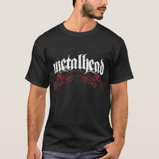 Metal Head with Skulls & Scrolls T-Shirt