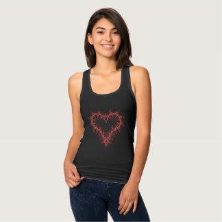 metal heart red tank top