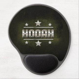 Metal Hooah Text Gel Mouse Pad