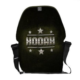 Metal Hooah Text Messenger Bags