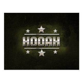 Metal Hooah Text Postcard