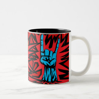 "Metal Horns ""Mug"" Two-Tone Coffee Mug"