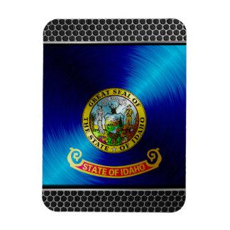 Metal Idaho Flag Rectangular Magnet