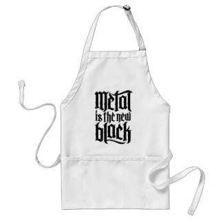 Metal is the new black No 2 black Aprons