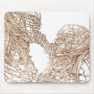 Metal kiss mouse pad