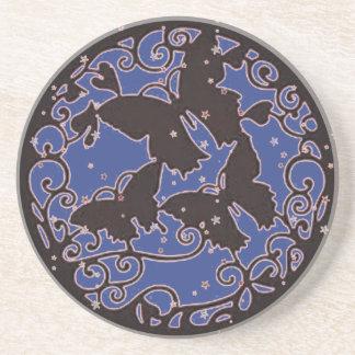 Metal LIke Blue Butterfly Coaster