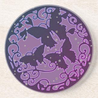 Metal LIke Purple Butterfly Coaster