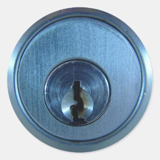 Metal Lock Stickers Round Sticker