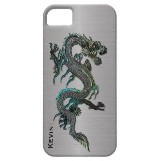 Metal Look Asian Dragon iPhone 5S case