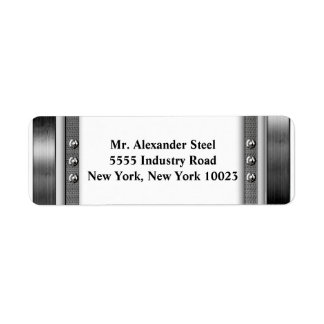 Metal Look Border With Bolts Labels