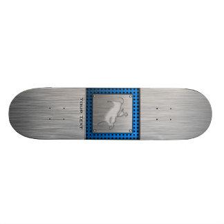 Metal-look Bull Rider Custom Skate Board