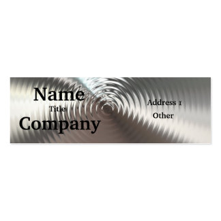 Metal Look Circular Ripples Business Cards