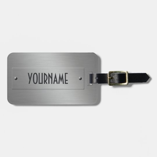 Metal Look custom luggage tag