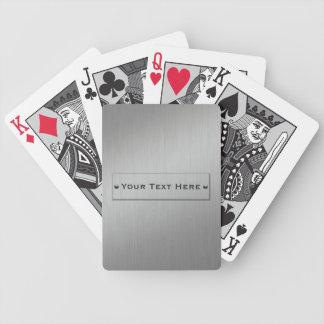 Metal Look custom playing cards