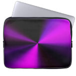 metal look laptop cover in purple & black laptop computer sleeve