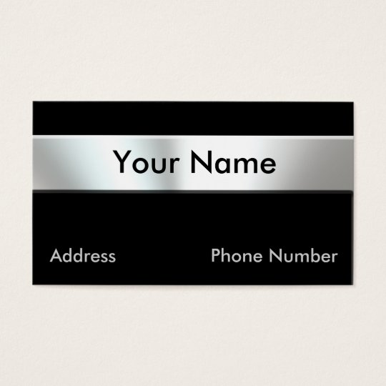 Metal Look Nameplate Business Cards