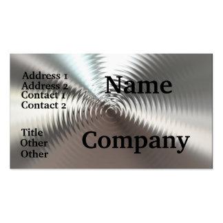 Metal Look Plates Circular Design Business Cards