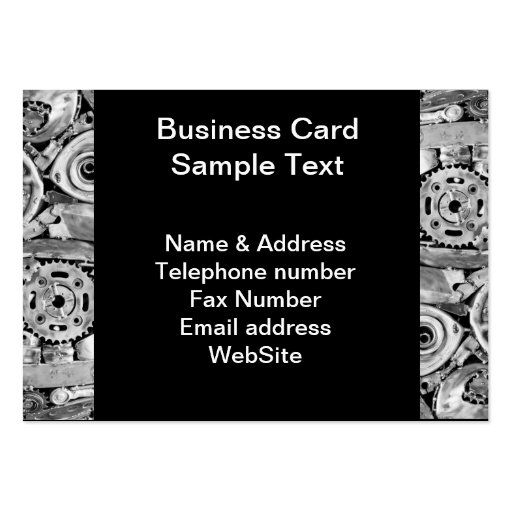 Metal machine parts welded together pack of chubby business cards