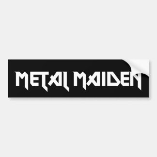 Metal Maiden Bumper Sticker