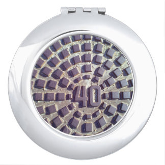 Metal Manhole cover number 40 Mirror For Makeup