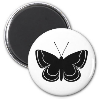 Metal Mark Butterfly 6 Cm Round Magnet