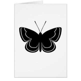 Metal Mark Butterfly Greeting Card