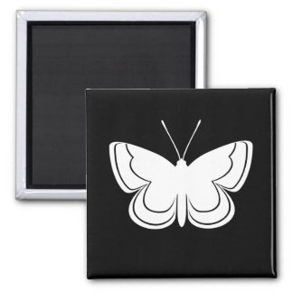 Metal Mark Butterfly Square Magnet