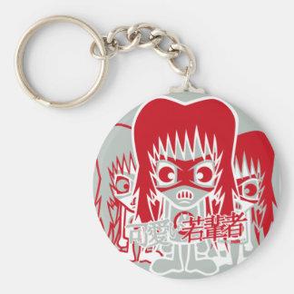Metal Mascot Basic Round Button Key Ring