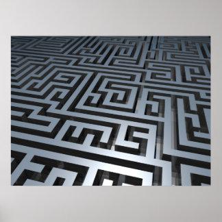 Metal Maze Poster
