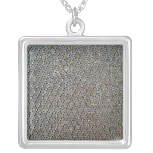 Metal Mesh Texture Personalized Necklace