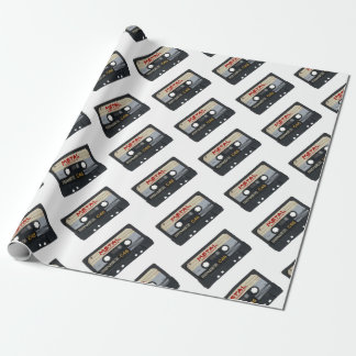 Metal Mix Tape Wrapping Paper