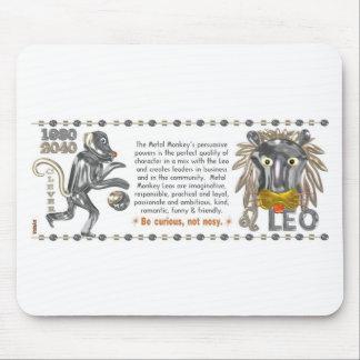 Metal Monkey zodiac born Leo 1980 Mousepad