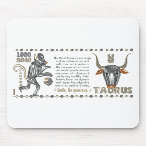 Metal Monkey zodiac born Taurus 1980 Mouse Pad